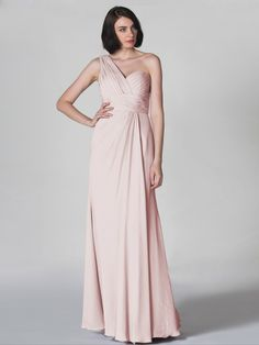 Pin to Win a Wedding Gown or 5 Bridesmaid Dresses! Simply pin your favorite dresses on www.forherandforhim.com to join the contest! | Ruched and Pleated Dress $189.99