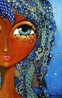 The visual result of romina lerda Illustration, Arte Popular, Eye Art, Whimsical Art, Art Plastique, Medium Art, African Art, Black Art, Doodle Art
