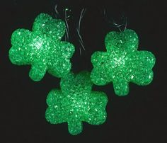 Save $ 5 ! Buy a Set of 10 Luck of the Irish St Patricks Day Shamrock Christmas