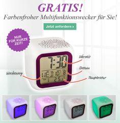 Farbenfroher Multifunktionswecker für Sie!