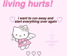 Hello Kitty discovered by GLen =^● 。●^= on We Heart It Im Losing My Mind, Lose My Mind, Losing Me, Lol, Haha Funny, Princesa Emo, Im Lost, Weird Dreams, Fb Memes