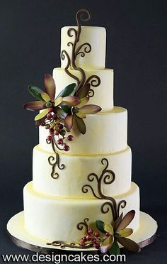 cute cupcakes this is beautiful! Beautiful Wedding Cakes, Gorgeous Cakes, Pretty Cakes, Cute Cakes, Amazing Cakes, Elegant Wedding, Sophisticated Wedding, Unique Cakes, Creative Cakes