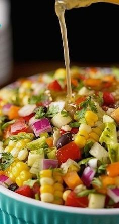Chopped Salad Mexican Chopped Salad ~ Fresh, vibrantly colored and full of flavor!Mexican Chopped Salad ~ Fresh, vibrantly colored and full of flavor! Mexican Chopped Salad, Mexican Salads, Chopped Salads, Mexican Meals, Mexican Salad Recipes, Vegetable Salad Recipes, Mexican Pizza, Mexican Food Appetizers, Mexican Side Dishes