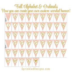 Printable Birthday Party Decorations Gold by SprinkledDesign