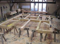 March 2013 the workshop at Castle Ring Oak Frame