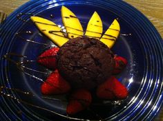 Chocolate muffin mangoes