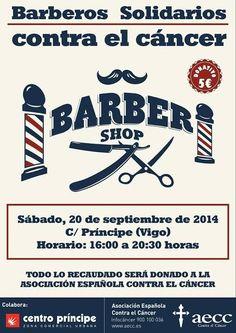 La #Barbería #Solidaria llega a la calle del Príncipe en #Vigo. 40 peluqueros atenderán en Príncipe por 5 euros para la Asociación contra el Cáncer. Vía @GalaRomani y @quehacerenvigo
