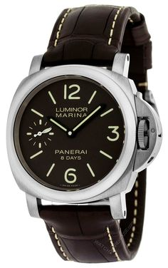 8072fa36bff PAM00564 Buy this authentic Panerai Luminor Marina 8 Days Titanio Men s  Leather watch On Sale at