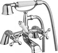 MODERN CLASSIC BATH FILLER SHOWER MIXER BATHROOM TAP CHROME SOLID BRASS C