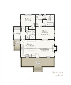 Our Town Plans is a collection of high quality, pre-designed house plans inspired by America's rich architectural heritage. Town House Plans, Small House Floor Plans, Cottage Floor Plans, Cottage House Plans, Country House Plans, Beach House Plans, Small Country Homes, Small Cottage Homes, Small Cottages