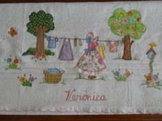 Embroidery Leaf, Embroidery Designs, Sewing Projects, Projects To Try, Baby Sheets, Sunbonnet Sue, Asana, Patches, Quilts