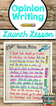 Blog Post with an Opinion Writing Launch Lesson idea- highly engaging and interesting for kids- includes a free opinion writing organizer!