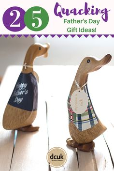 Looking for a personalised Father's Day gift that will quack him up this year? We have a wide range of traditional and themed & hobby related ducks that can all be personalised with the name of your choice, making a unique gift! All hand carved and hand painted - view them all over at The Duck Company, DCUK!