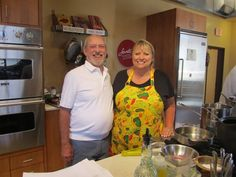 Always a great day when Bill and Cheryl Alters Jamison are in the house...er, kitchen!