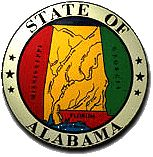 Alabama State Seal. Alabama, my first 16 years were spent here.