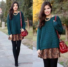 Tips Primaverales ----->     Looks Chompa   Falda ¡Piernas al Aire!