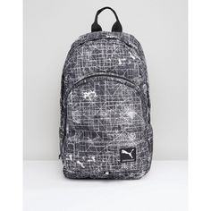 Puma Academy Backpack (130 RON) ❤ liked on Polyvore featuring bags, backpacks, grey, puma backpack, daypack bag, zip top bag, gray backpack and day pack backpack