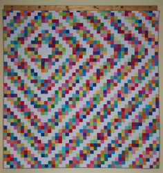 Barn Raising Quilt -- in postage stamp style