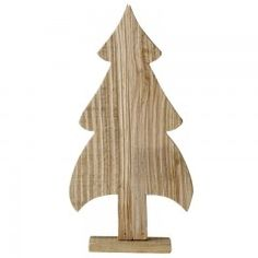 Für eine Adventslandschaft - dekorative Tannenbäume aus Holz.