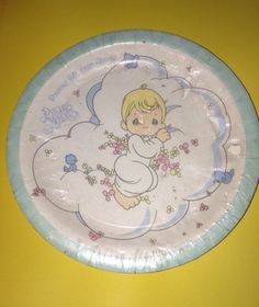8 Lrg Precious Moments Baby Shower Party Plates