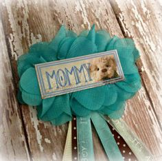 Teddy Bear Baby Shower Badge by EllieKattCollection on Etsy, $8.00