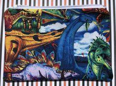 Dinosaurs Zipper Pouch: Stegosaurus, Ankylosaurus, Sauropod, Reptiles, Extinct.