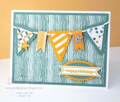 Pennant Banner Birthday - can use sizzix dies to recreate