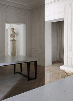Balmain store in Paris, minimalist classical interior by Joseph Dirand _
