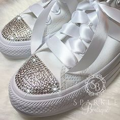 Cool Women S Swarovski Converse Wedding Chucks Custom All Star With Crystals For The Bride