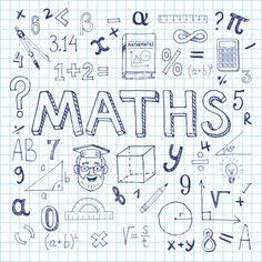 Maths hand drawn vector illustration with doodle mathematical formulas, numbers .Maths hand drawn vector illustration with doodle mathematical formulas, numbers and objects, isolated on exercise book sheet. Doodle Art, Mathematical Drawing, Project Cover Page, School Binder Covers, Notebook Doodles, Bujo Doodles, Exercise Book, School Notebooks, Binder Covers