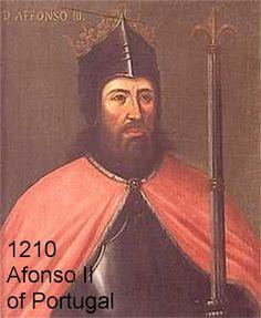 1210 Afonso II of Portugal wife is Urraca of Castile.jpg