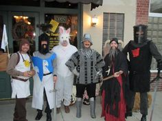 Monty Python {Love this! They have the coconuts!! And I wonder if the Black Knight kept his limbs all night. hahaha} Homemade Halloween costumes. - Imgur
