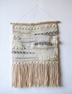 Neutral woven wall hanging  Boho decor  Hanging wall by SowaDesign