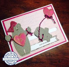 SIP Challenge Bear Hugs Stamp Set, Stampin' Up!, Tina's Crop Shop, Slider Card, Valentine's Day