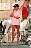 February 23, 1995: Princess Diana vacationing in St. Bathelemy, West Indies.