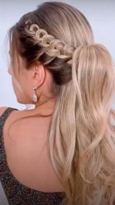 Hairdo For Long Hair, Braids For Short Hair, Box Braids, Pretty Braided Hairstyles, Bride Hairstyles, Hairdos, Bridal Hair Buns, Bridesmaid Hair Updo, Prom Hair