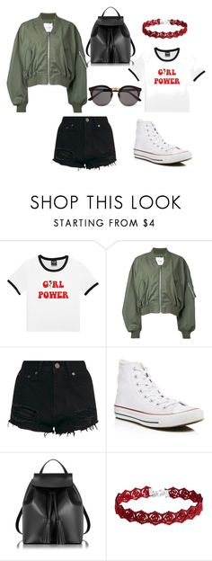 """Girl Power"" by hburkett94 ❤ liked on Polyvore featuring Clane, Converse, Le Parmentier, Illesteva, Summer, Hipster, flower, converse and girlpower"