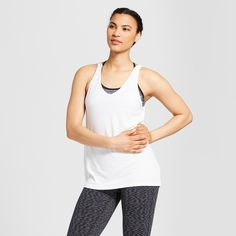 aab5de69a971c The Women s 2-in-1 Tank Top from C9 Champion features a strappy back