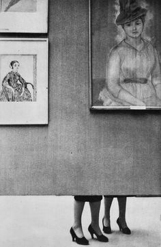 In Art Gallery by A. Zybin, 1961 /via https://www.pinterest.com/vschilz/art-en-face-in-front-of/