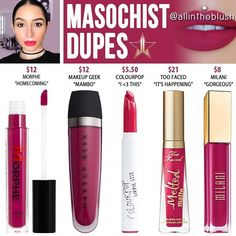 bf11d18c6c8 (@allintheblush) on Instagram: MASOCHIST RE-DUPES from Jeffree Star  Cosmetics #