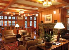 arts and crafts wall paneling - Google Search
