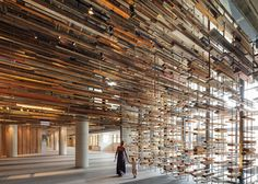5osA: [오사] :: *플로팅 팀버 [ March Studio ] thousands of timber planks to staircase of Canberra's Hotel Hotel