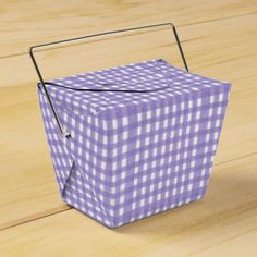 Lavender Lace Gingham Take Out Favor Box
