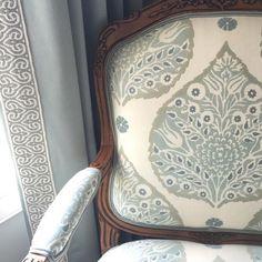 galbraith and paul lotus fabric Home Design, Home Interior Design, Interior Office, Exterior Design, Discount Interior Doors, Interior Window Trim, Living Room Drapes, Samuel And Sons, Ferrat