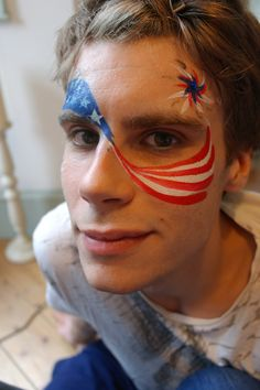 4th july face paint. use star stickers?