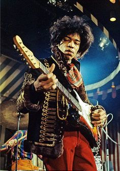 Jimi Hendrix. Can hear that guitar just by looking at Jimi.