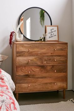 Check out Regan Mixed Drawer Dresser from Urban Outfitters Bedroom Dressers, Dresser As Nightstand, Dresser Drawers, Bedroom Furniture, Home Furniture, Bedroom Decor, Apartment Furniture, Bedroom Ideas, Wood Dresser