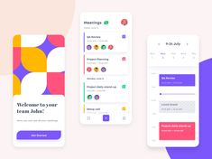 Meeting Planner application by Diana Timeline App, Android Design, Meeting Planner, Application Design, Ui Web, App Ui, Mobile Design, Advertising Design, Show And Tell