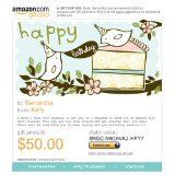 Amazon Gift Card - E-mail - Happy Birthday Birds