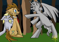 Don't Blink! Dr. Hooves and Derpy Hooves vs a Weeping Angel